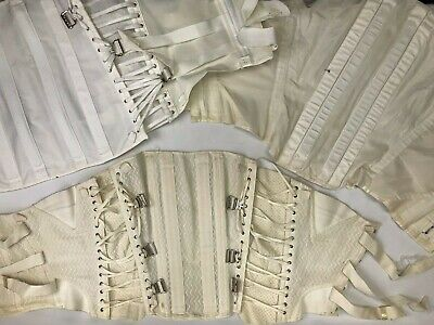 Lot of 3 Vintage 1940s-1950s Fan Lacing, Surgical Support Women's Corsets