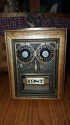 Post Office Combination Lock Box,Coin Savings,Olde Tyme Reproduction Series 1987