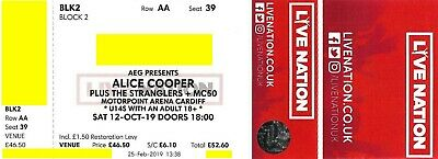 ALICE COOPER - OL' BLACK EYES IS BACK TOUR  2019 - CARDIFF OCTOBER 12th