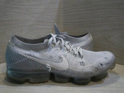Nike Air Vapormax Flyknit Pure Platinum Grey White 849558-004 Size 12.5