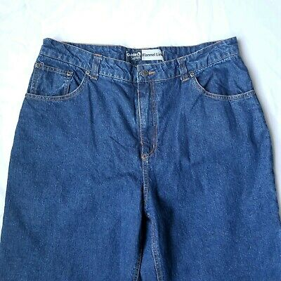 38ab2253 Guide Series Women's Jeans Size 16 Flannel Lined Thick Warm Snow 1225