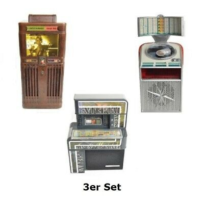 3er Set Jukebox Musikbox Box Mills AMI Continental Seeburg mit Licht & Ton