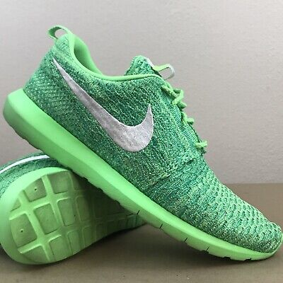 749300a891b7a Nike Roshe NM Flyknit Men s Running Shoes Voltage Green Neon 677243-301 Sz  11