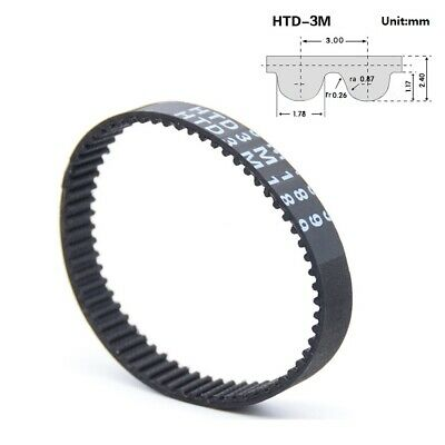 HTD 3M-750~3600 Pitch 3.00mm Close Loop Timing Synchronous Belt Width 10/15/20mm