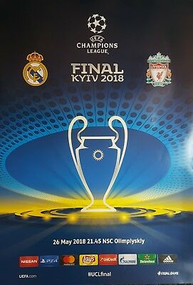 2018 REAL MADRID v LIVERPOOL CHAMPIONS LEAGUE FINAL OFFICIAL UEFA POSTER MINT