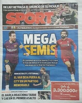 2019 BARCELONA v LIVERPOOL CHAMPIONS LEAGUE SEMI FINAL NEWSPAPER PREVIEW