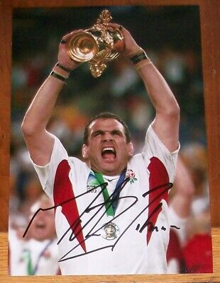 Martin Johnson genuine hand signed England 2003 Rugby World Cup photo
