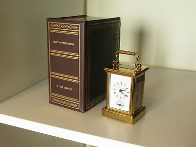 MATTHEW NORMAN London Miniature carriage 8 day alarm clock 1760A + Box