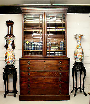 A Georgian Mahogany Secretaire Bookcase