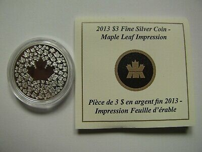 2013 Proof $3 Maple Leaf Impression .9999 silver Canada three dollars