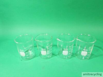 Lot of 4 Pyrex no.1003 600ml Glass Beakers
