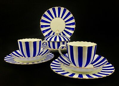 Antique 18th / 19th Century Gardner Factory Russia Tea Set / Blue And White