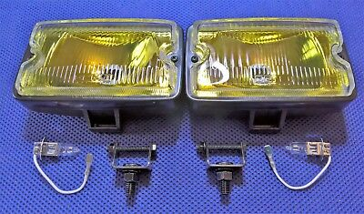 Peugeot 205 83> Clear Glass Yellow Lens Driving Lamp Units & Bulbs (Fits Gti)