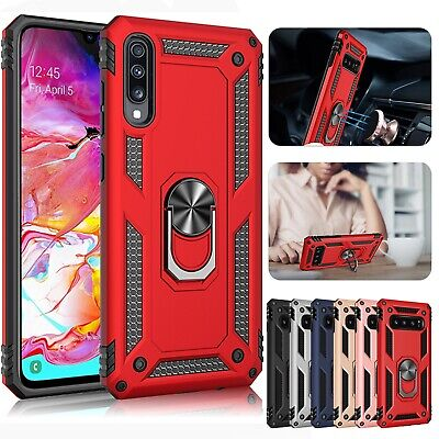 For Samsung Galaxy A50 A30 A70 A10 Magnetic Hybrid Ring Holder Stand Case Cover