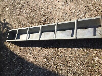 6ft  Galvanised Pig / Sheep Feed Trough