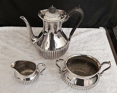 Silver plated 3 piece coffee set.