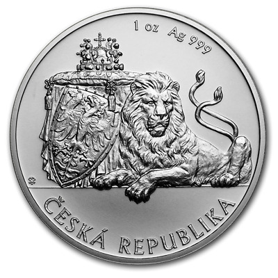 2019 Niue Czech Lion BU 1 oz Silver Coin in Capsule