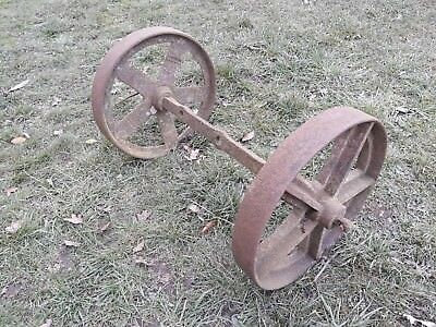 antique/vintage cast iron set of wheels/chassis - architectural salvage