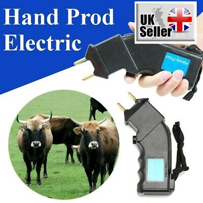 4000V Electric Hand Cattle Prod Dairy Dogs Sheep Battery Power Prodder Animals