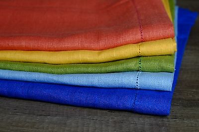 Linen Tablecloth with Hemstitch