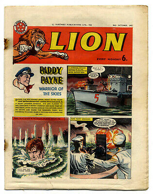 Lion 26th Oct 1963 (mid-high grade) Don Lawrence's Karl the Viking, Robot Archie