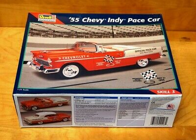 Revell 1955 Chevy Indy Pace Car Model Kit 1/25 Scale #85-2496 - NOS