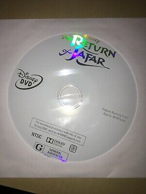 NEW Authentic US Disney Aladdin II 2 Return Of Jafar (2004) DVD DISC ONLY FREE