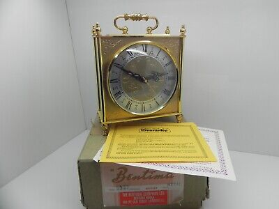 Collectable Bentima Carriage Clock Made In England Boxed