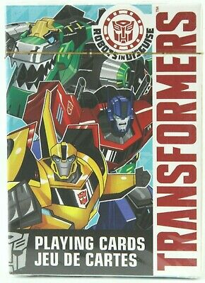 Transformers Robots in Disguise Illustrated Poker Playing Cards 52 Images SEALED
