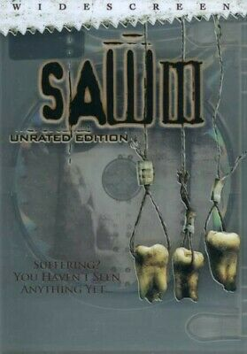 Saw III (DVD, 2007, Unrated Widescreen) AMAZING DVD IN PERFECT CONDITION!DISC AN