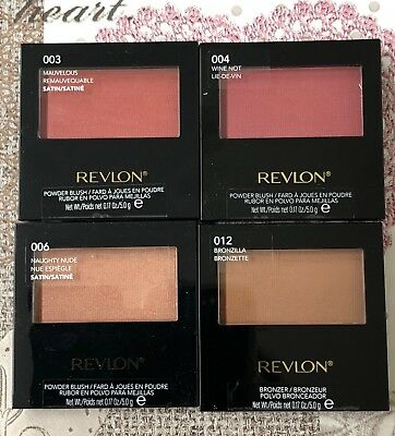 REVLON Powder Blush Or Bronzer Compact. Matte/Satin. 4 Shades To Choose From x
