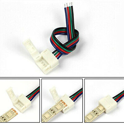 20Pcs 4Pin 10mm 5050 LED Strip Connector For RGB Waterproof Band LED Strip Light