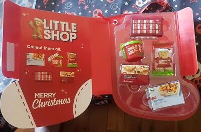 Coles Little Shop Christmas Edition- Case and full set