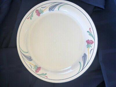 "One (1) Dinner Plate 10-3/4"" Lenox Poppies on Blue Chinastone"