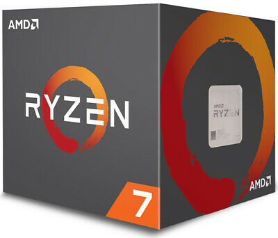 AMD Ryzen 7 2700X, 8 Cores AM4 CPU, 4.35GHz 20MB 105W w/Wraith Prism Cooler F...