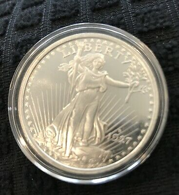 St Gaudens Coin 1927 Style Troy Oz .999 Fine Silver Art Round Golden State Mint