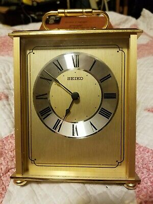 Seiko Solid Brass Mantle Clock Battery Operated