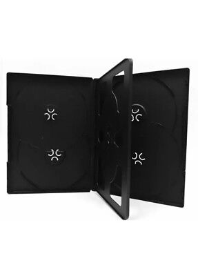 Lot Of 5 New Black Multi 6 Disc Holders CD DVD Case Box Storage with Tray 14mm