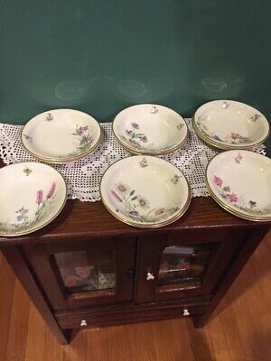 K & A  Krautheim Selb Bavaria Meadow Flowers Berry Bowls Set Of 11 BEAUTIFUL!!