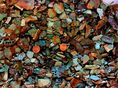 Turquoise Rough Old Silversmiths Stash! 1/2 Pound Out of Bucket Shown!