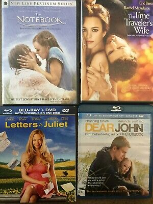 The Notebook (2-Disc), Letters To Juliet, The Time Traveler's Wife, & Dear John