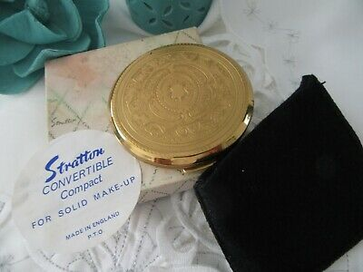 Stunning Collectable, Stratton ,golden  Ornate .  Powder Compact