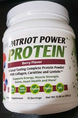 Patriot Health Alliance Power Protein(13.86oz/393g) - 15 Servings - Berry Flavor