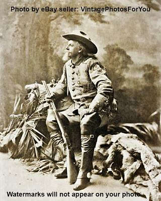 1903 Buffalo Bill Cody Wild West Show Hunter Winchester Repeating Rifle Photo