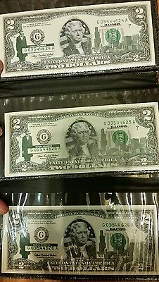 2003 Green Seal $2 Two Dollar Bill, Uncirculated Authentic Legal Tender, 1 Note