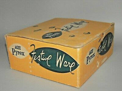 Agee Pyrex Festive Ware original Packing Box / Display / Collectable / Prop 50's