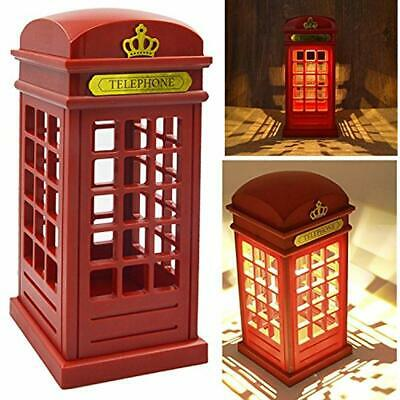 USB Lamps Vintage London Telephone Booth Designed Charging LED Night Touch Table