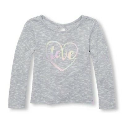 The Childrens Place Long Sleeve  Lightweight Grey Sweater Knit Top - 4T Girls