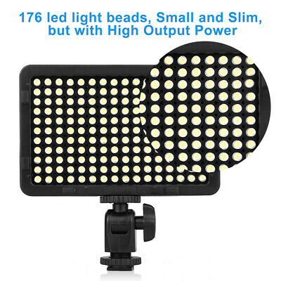 Craphy PT-176S LED Video Light Photography Flash LampDimmable Panel for Canon
