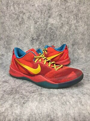 huge discount 05035 4c1f3 Nike Kobe 8 Year Of The Horse Mens Basketball Shoes Size 8 Red Blue Yellow
